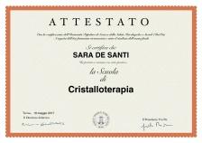 Attestato cristalloterapia