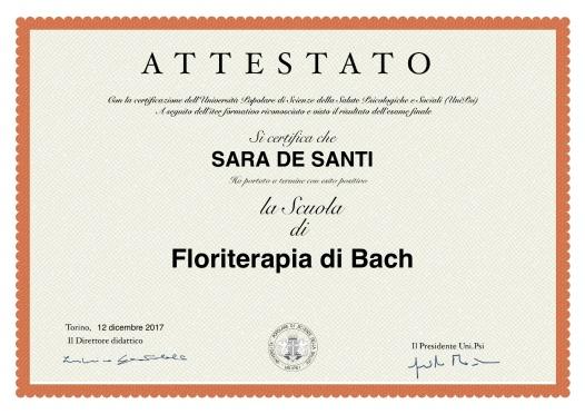 Attestato Floriterapia
